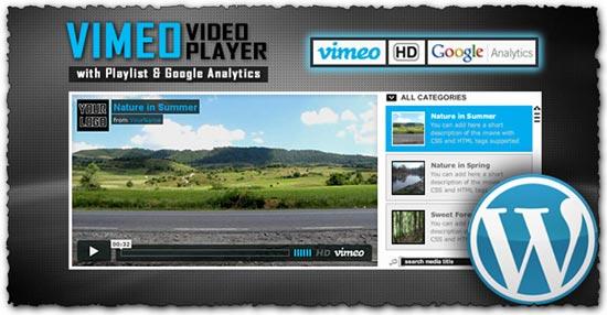 Vimeo video player with playlist and GoogleAnalytics  download