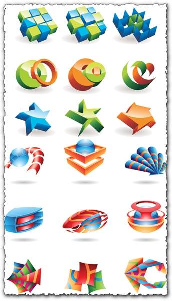 3D logo model vectors