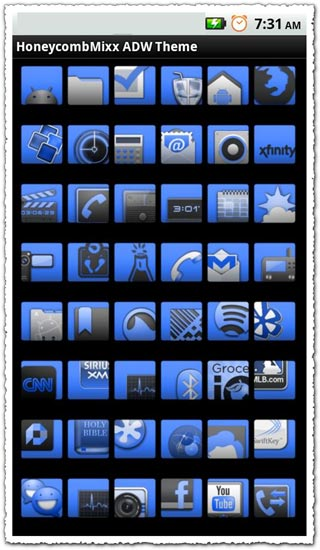 ADW Theme HoneycombMixx 1.0 Android application