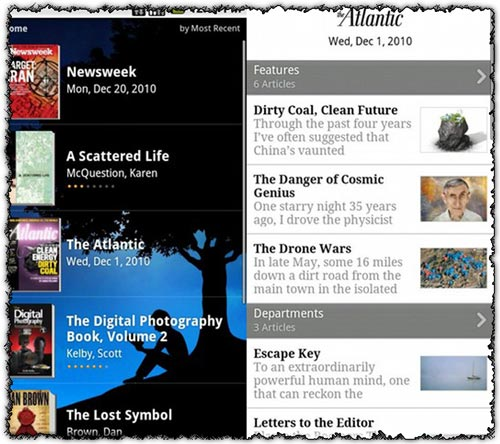 Amazon Kindle 2.0.4 application for Android