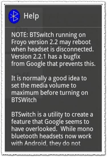 Bluetooth Switcher 1.01 Android application
