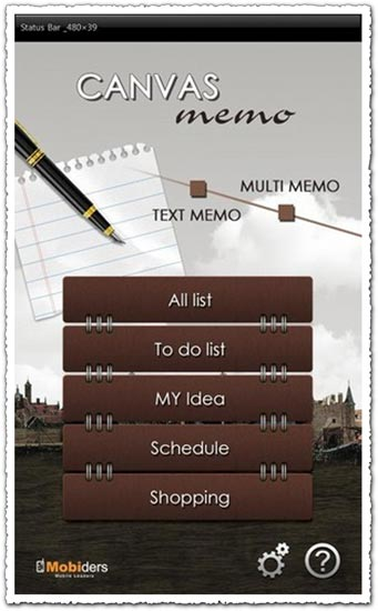 Canvas Memo 1.2 Android application