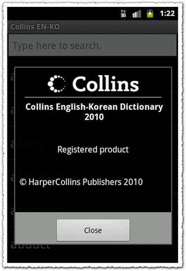 Collins Gem Korean Dictionary 2.12.68 Android application