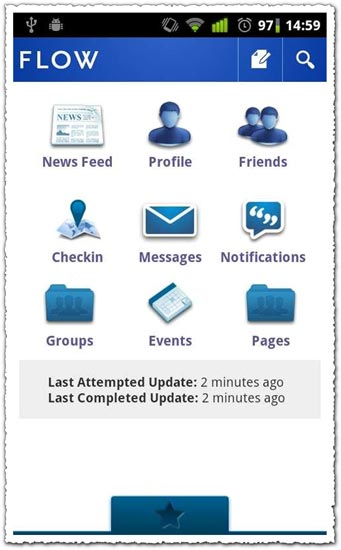 Flow for Facebook 3.5.0.1 Android application