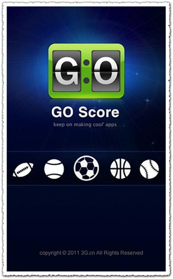 GO Score 1.0.1 Android application