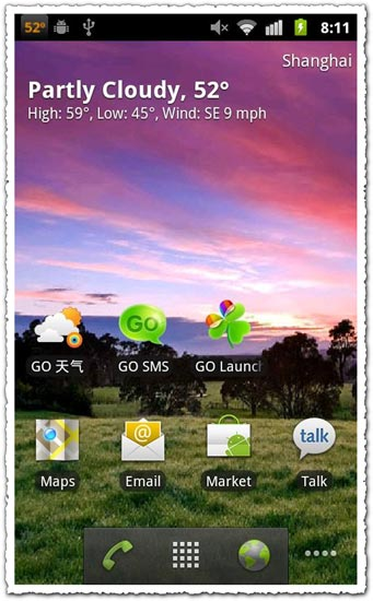 GO Weather 1.6.4 Android application