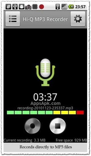 Hi-Q MP3 Recorder Full 1.5.4 Android application