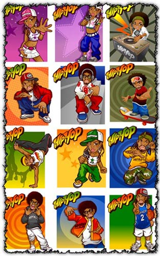 Hip Hop vector templates