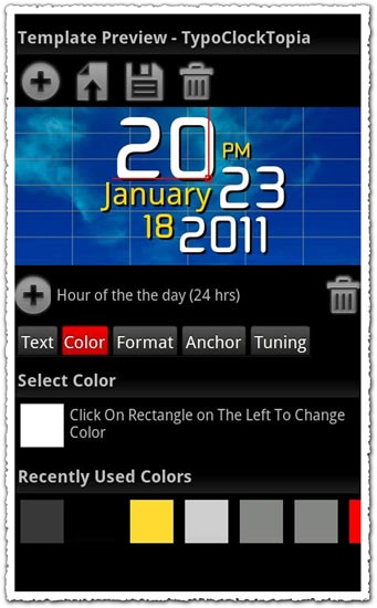Make Your Clock Widget Pro B8 Android application