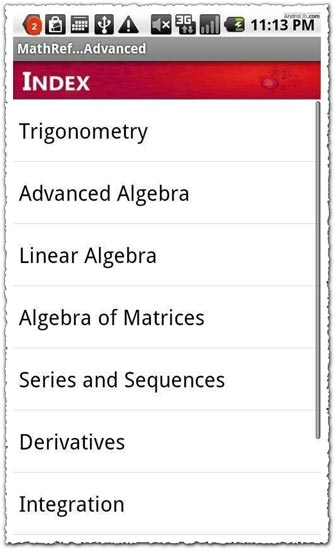 Math Reference 5.7 Android application