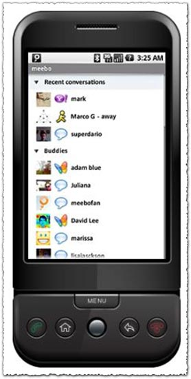 Meebo for Android application