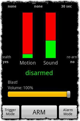 Motion & Sound Alarm 1.7.7 application for Android