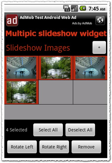 Multipic Slideshow Widget 1.22.1 Android application