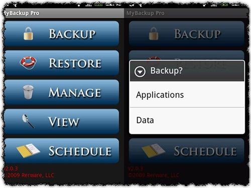 MyBackup Pro 2.6.6 application for Android