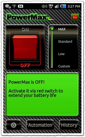 PowerMax 1.0.4 Android application