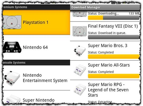 Rom Finder - PSX N64 application for Android