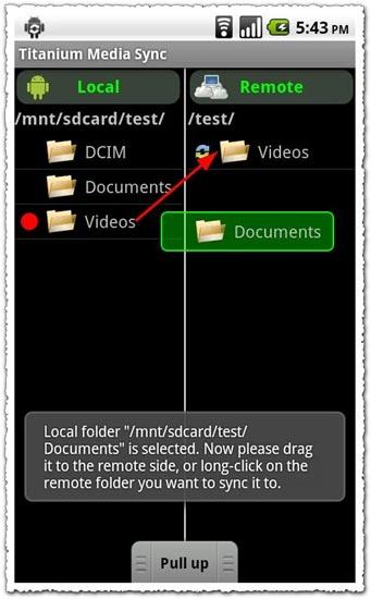 Titanium Media Sync 1.0.0 Android application