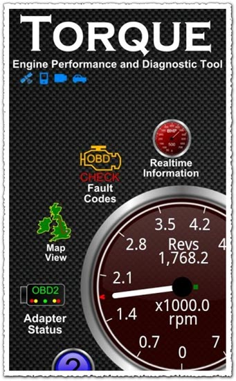 Torque 1.4.17 Android application