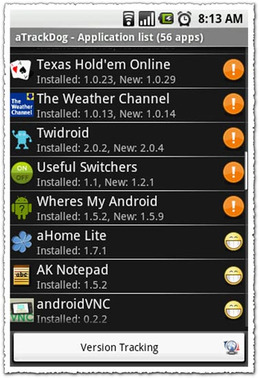 aTrackDog 3.18 Android application