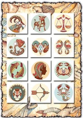 Horoscope signs vectors