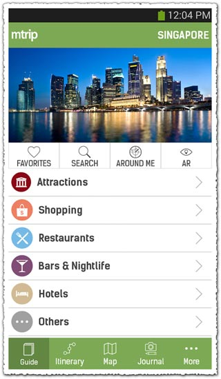 mTrip Singapore Travel Guide 1.0.8 Android application