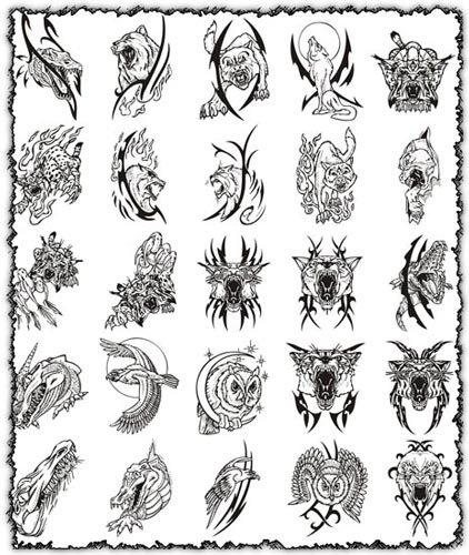 Predators clipart vectors