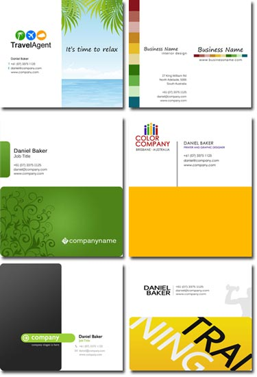 Professional business cards templates for Photoshop