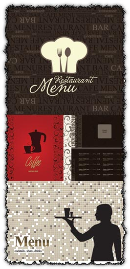 Restaurant menu vectors design
