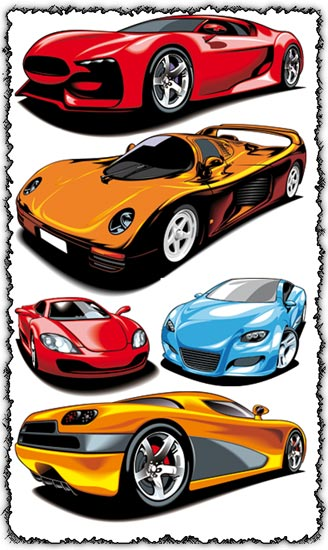Sport cars vector design