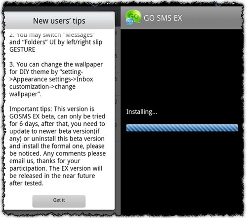 Go Sms Ex 2.90.2 application for Android