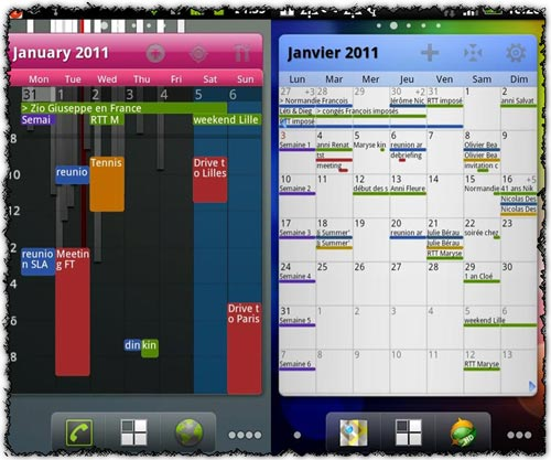 Pure Grid calendar widget 1.9.0 application for Android