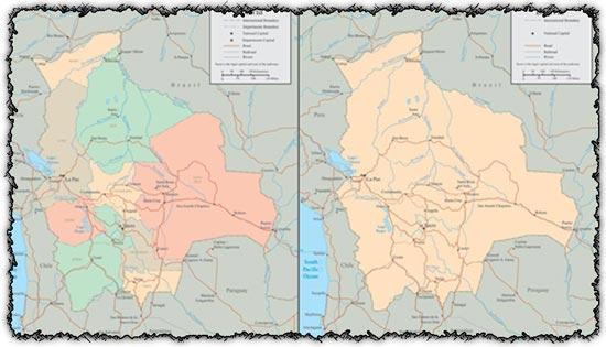 Bolivia vector maps