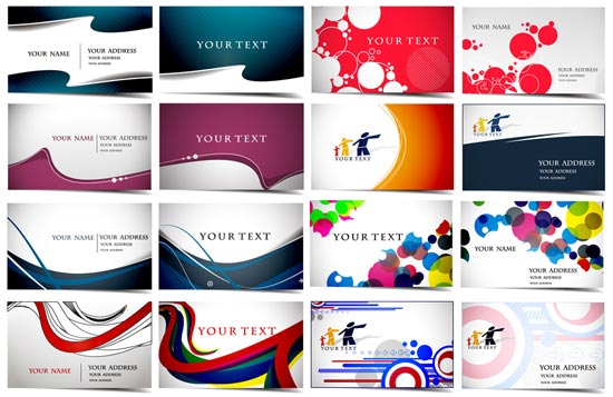 Business cards vector layouts
