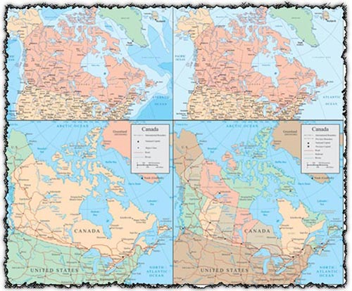 Map of Canada And Usa With Cities Map of Canada And Usa With