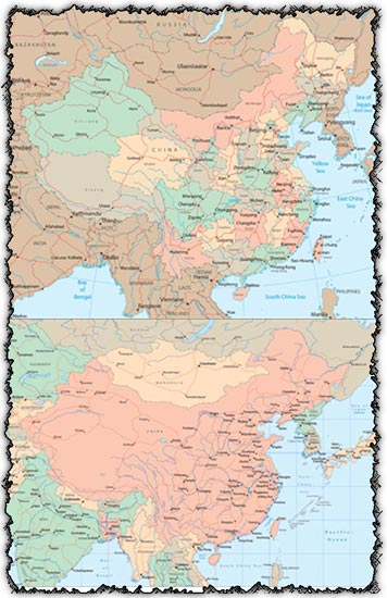 China vector maps