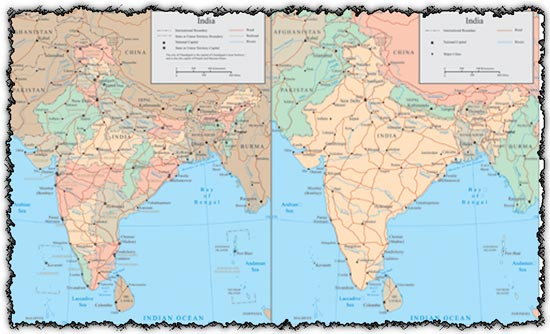 India Vector Maps - Lakes in india map
