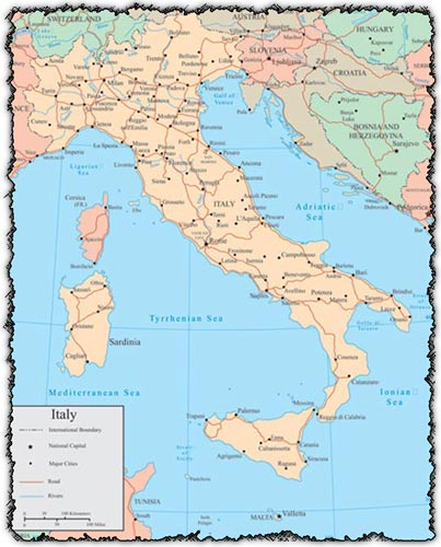 Italy vector map