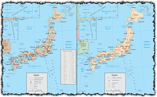 Japan vector maps