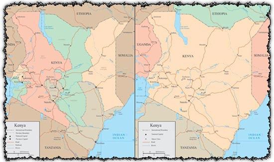 Kenya vector maps