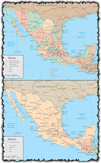 Mexico vector maps