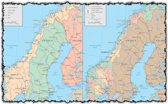 Norway vector maps