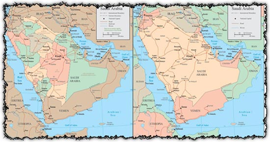 Saudi Arabia vector maps
