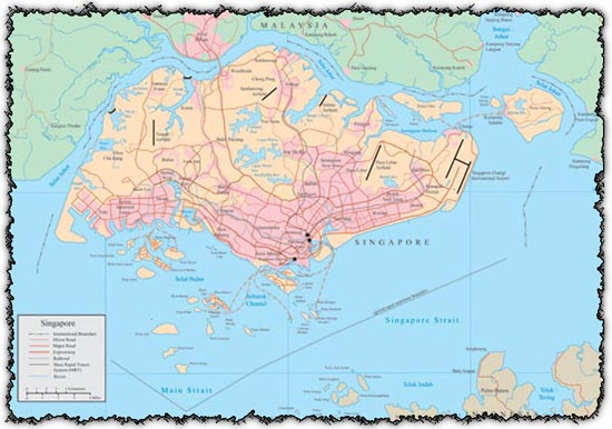 Singapore vector map