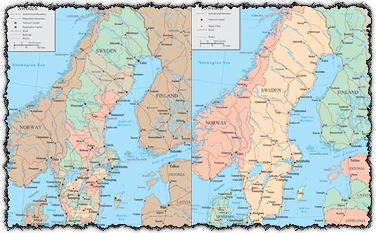Sweden vector maps