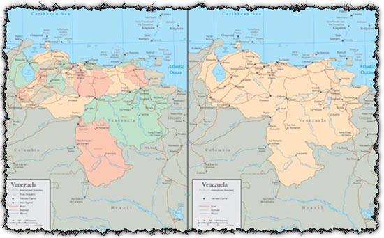 Venezuela vector maps