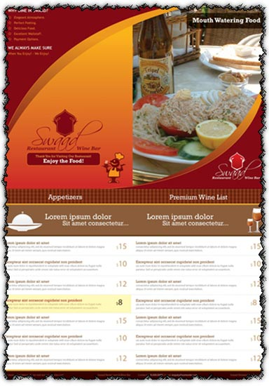 Restaurand menu card vector
