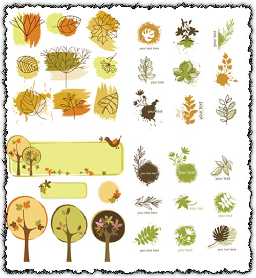 Autumn leafes vectors