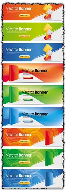 Multimedia vector banners