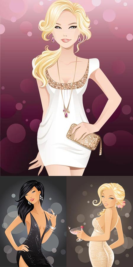 Vectorial fashion girls