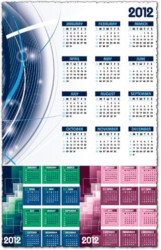 2012 Calendar vector templates